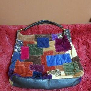 Lucky Brand patchwork shoulder bag